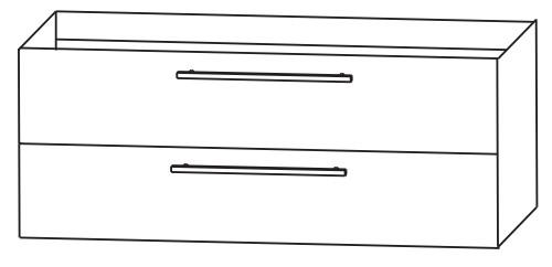 Pelipal 341 Filo - Doppelwaschtisch mit Unterschrank 145 cm breit