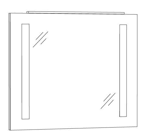 Marlin Bad 3130 - Azure Badspiegel 80 cm breit SPFLS8