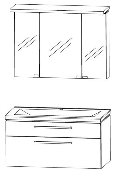 Puris Cool Line Badmobel Set 92 Cm Breit Spiegelschrank Inkl