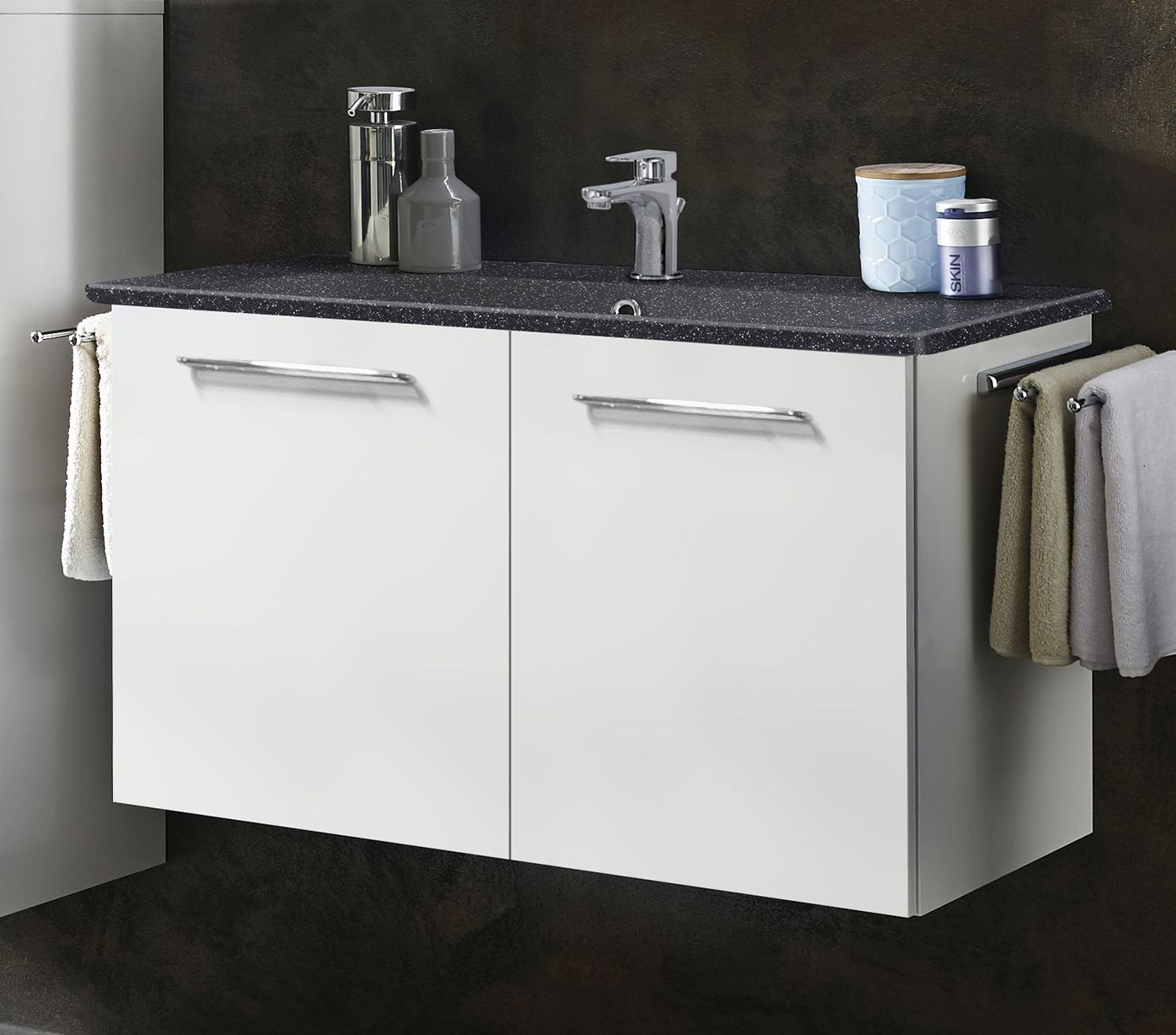 marlin bad 3020 life waschtisch mit unterschrank 80 cm breit loft badm bel 1. Black Bedroom Furniture Sets. Home Design Ideas