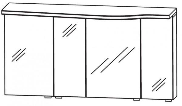 Puris Swing Spiegelschrank 120 cm breit SET40123L