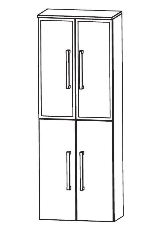 puris speed bad hochschrank 60 cm breit hna036b badm bel 1. Black Bedroom Furniture Sets. Home Design Ideas