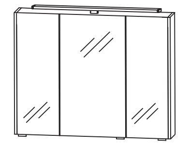 Puris d.light Bad-Spiegelschrank 72 cm breit SET437D01