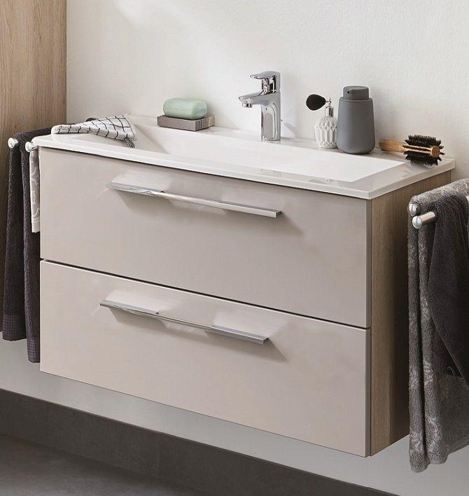 puris fine line waschtisch mit unterschrank 62 65 cm breit badm bel 1. Black Bedroom Furniture Sets. Home Design Ideas