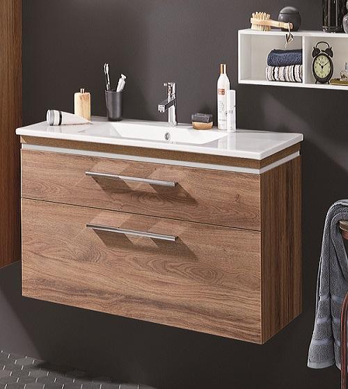 puris cool line waschtisch mit unterschrank 62 cm breit keramik badm bel 1. Black Bedroom Furniture Sets. Home Design Ideas
